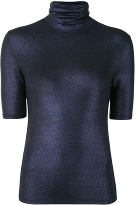 Majestic Filatures Short-Sleeved Knitted Top