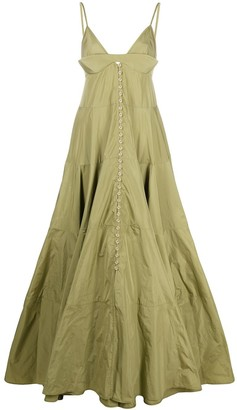 Jacquemus Manosque flared maxi dress