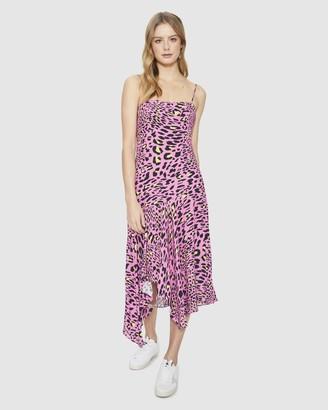 Cooper St Feline Asymmetric Midi Dress
