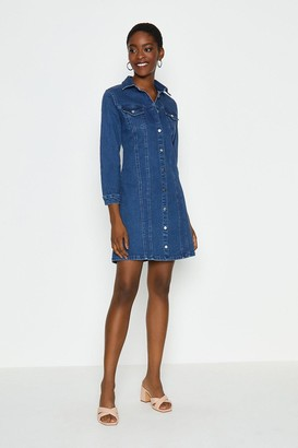 Coast Long Sleeve Button Through Denim Dress