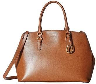 Lauren Ralph Lauren Bennington Double Zip Satchel (Lauren Tan) Satchel Handbags