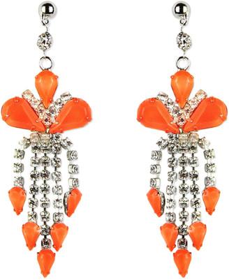 Tom Binns Orange Metal Earrings
