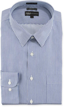 Neiman Marcus Men's Non-Iron Classic Fit Stripe Twill Dress Shirt