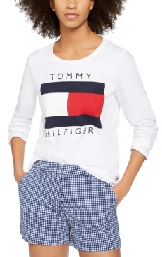 Tommy Hilfiger Long-Sleeve Flag Cotton T-Shirt