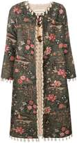 Shirtaporter floral fitted coat