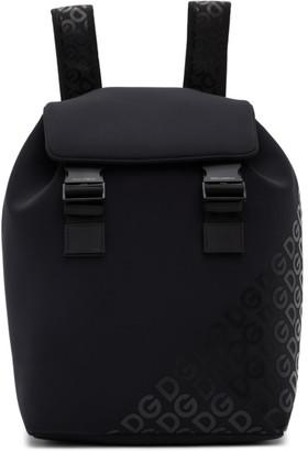 Dolce & Gabbana Black Neoprene Logomania Backpack