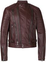 Diesel Black Gold zip up cropped jacket - men - Leather/Polyester/Rayon - 48