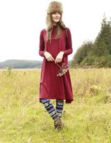 Shabby Apple Livvy Swing Dress Maroon