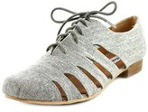 Not Rated Butterfly Beach Women Round Toe Canvas Gray Oxford.