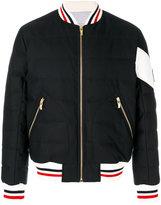 Moncler Gamme Bleu bomber jacket - men - Cotton/Feather Down/Polyamide/Virgin Wool - 1