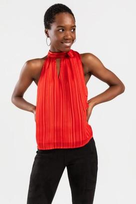 francesca's Kimberly Racerback Neck Tie Tank Top - Red