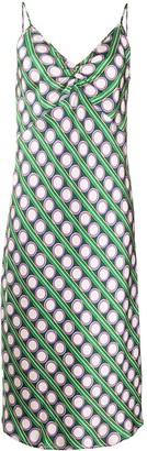 La DoubleJ Silk Slip Midi Dress