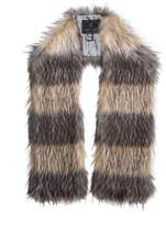 UNREAL FUR Striped Fur Scarf