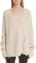 Helmut Lang Women's Distressed Wool & Cashmere Sweater