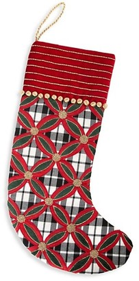 Mackenzie Childs Yuletide Plaid Stocking