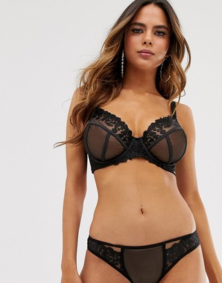 Bluebella hera lace bra in black