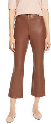 Halogen x Atlantic-Pacific Crop Flare Faux Leather Pants
