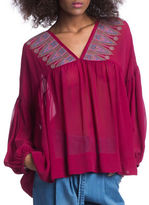 Plenty by Tracy Reese Sheer Peasant Top