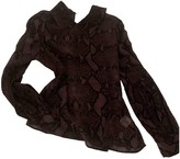 Pierre Balmain Purple Silk Top for Women Vintage