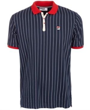 Fila Men's Striped Polo Shirt