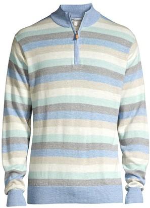 Peter Millar Summer Stripe Wool & Linen Sweater