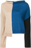 Marni asymmetric colour block sweater
