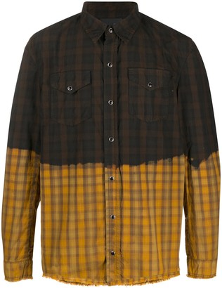 B Used Two Tone Checked Shirt