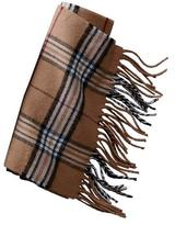 Fraas Men's Classic Plaid Fringed Scarf