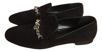 Louis Vuitton Upper Case Black Suede Flats