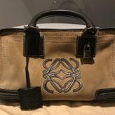 Loewe Amazona Camel Suede Handbags