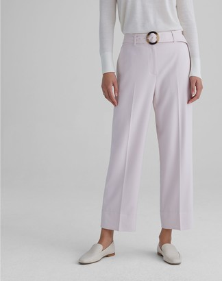 Club Monaco Round Buckle Belted Trouser