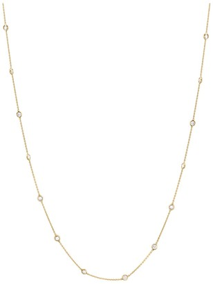 Diamond By The Yard Necklace In 18K Yellow Gold