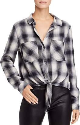 Bella Dahl Plaid Tie-Front Shirt