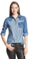 Levi's Women's Color Block Chambray Annie Denim Shirt