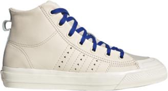 adidas Pharrell Williams Nizza RF Hi Running Shoes - Ecru Tint / Cream White Clear Brown
