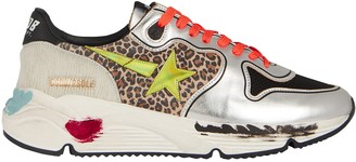 Golden Goose Running Sole Leopard Sneakers