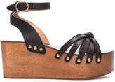 Etoile Isabel Marant Zia Leather Wedge Sandals