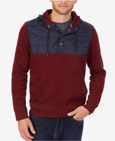 Nautica Men's Mixed-Media Pullover Hoodie
