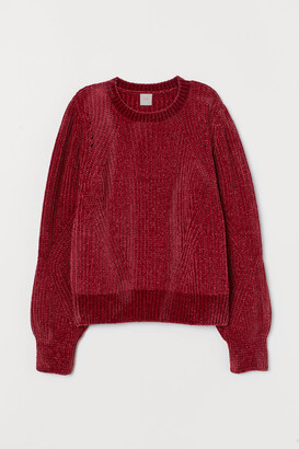 H&M Chenille Sweater - Red