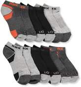 RBX Active 6 Pack Boy's Low Cut Socks, Grey/Orange, Socks size 5-6.5 shoe size 4-8.5