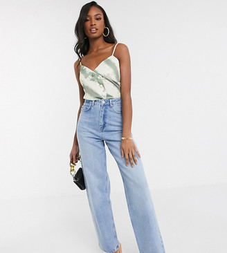 Asos Tall ASOS DESIGN Tall high rise 'relaxed' dad jeans in midwash