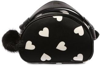 MonnaLisa Heart Print Neoprene Belt Bag