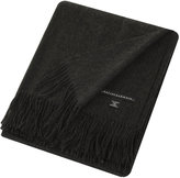 Sofia Cashmere Trentino 2 Ply Fringed Throw - Charcoal