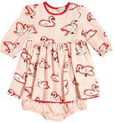 Stella McCartney Swans Printed Dress & Diaper Cover