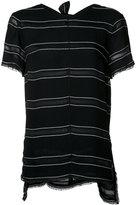 Proenza Schouler striped T-shirt - women - Acetate/Viscose - 2