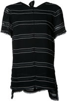 Proenza Schouler striped T-shirt - women - Viscose/Acetate - 2