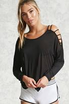 Forever 21 Active Ladder Sleeve Top