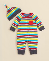 Offspring Infant Boys' Striped Coverall & Hat - Sizes 3-9 Months