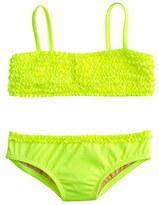J.Crew Girls' tiny frills bikini set in neon