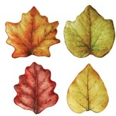 Juliska Forest Walk Set Of 4 Leaf Plates